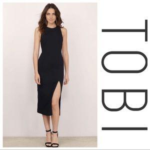 ✨ TOBI ✨ Black Bodycon Midi Dress